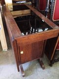 Antique Drop Leaf Table with Side Cabinet in Leesville, Louisiana