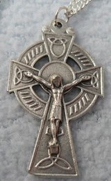 New Irish Cross on Sterling Chain-2 Available in Kingwood, Texas